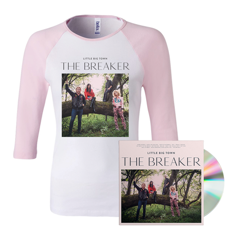 Little Big Town New Album The Breaker Official Women's Pink Tshirt and CD || Buy Now