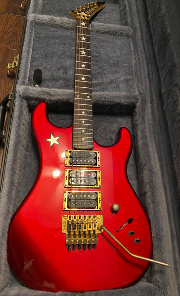 1987 Vintage Kramer Richie Sambora Jersey Star (Red) Electric Guitar