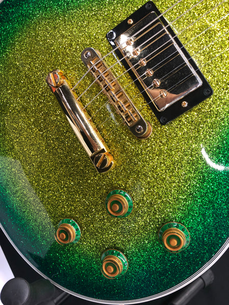 2014 Gibson Les Paul Custom Lite Green/Gold Sparkle