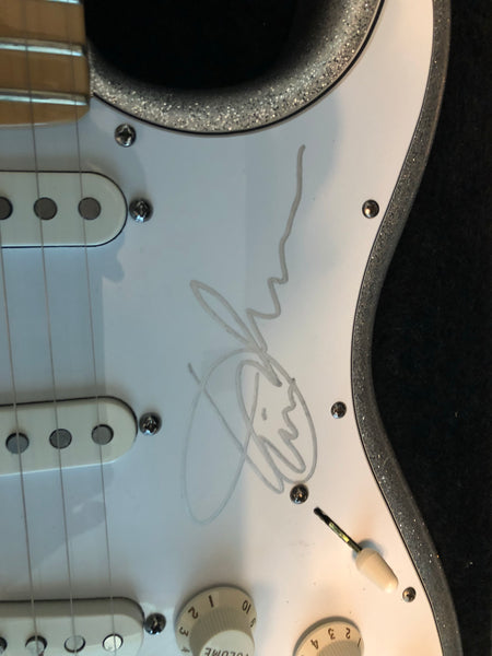 2009 Fender American Stratocaster Silver Sparkle Signed by Eric Johnson