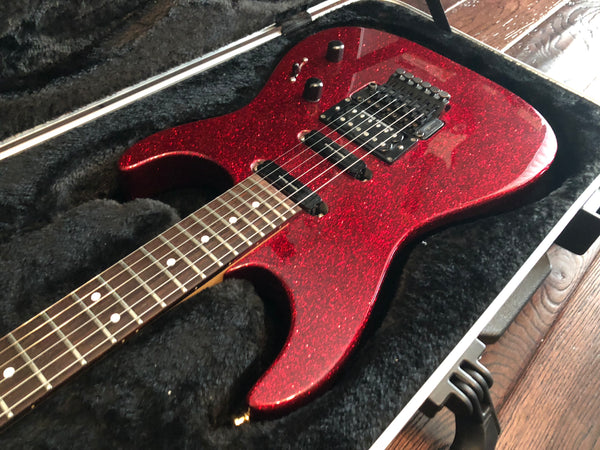 1989 Charvel Model 375 Deluxe Red Sparkle