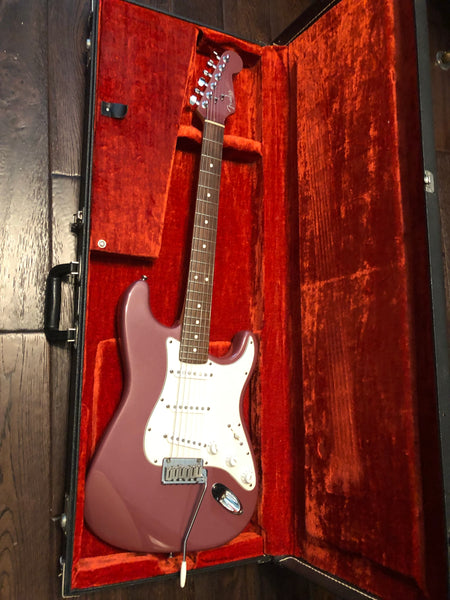 1995 Fender American Stratocaster FSR Burgundy Mist Matching Headstock Electric Guitar