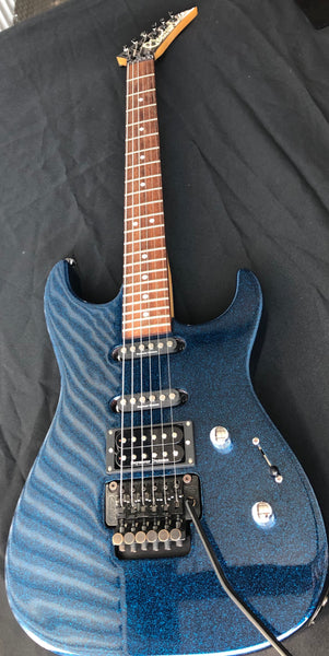 1989 Charvel Model 375 Deluxe Blue Metal Sparkle