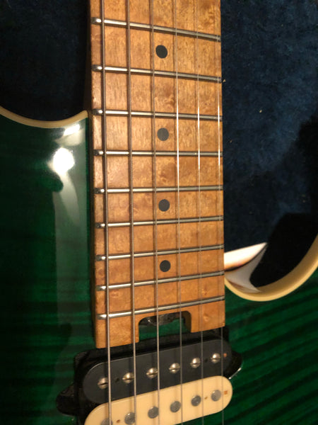 1999 Peavey USA Wolfgang Standard Transparent Green Flametop Electric Guitar