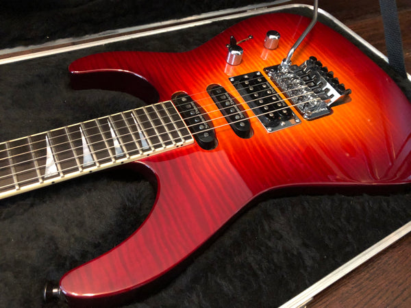 2001 Jackson Soloist SL1 Flamed Maple Top Burnt Cherry Burst