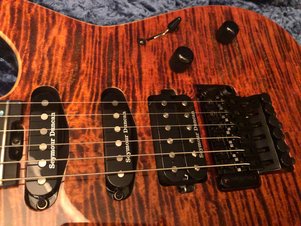 ESP USA Custom Shop M-III Tiger Eye AAAA Flametop Electric Guitar