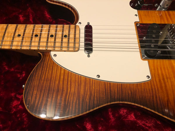 2012 Fender American Select Telecaster Violin Burst Flametop Electric Guitar