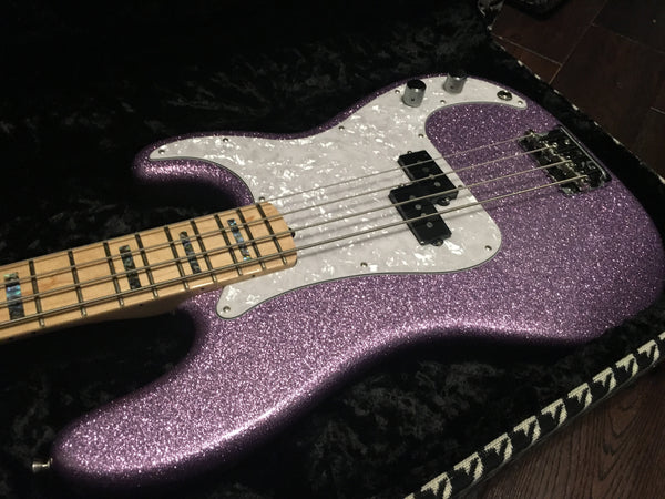 2017 Fender American Precision Bass Adam Clayton (U2) Limited Edition Purple Sparkle