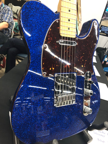 2012 Fender American Deluxe Telecaster Canadian Blue Sparkle