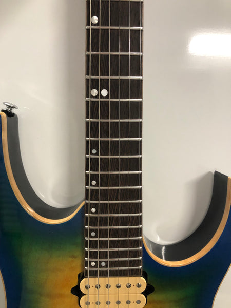 2018 Ibanez Premium RG Geyser Blue Burst Electric Guitar RG6PFGMLTD Model