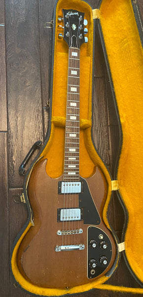 1971 Gibson SG Deluxe (without Bigsby) Walnut Brown Electric Guitar w/Vintage Case