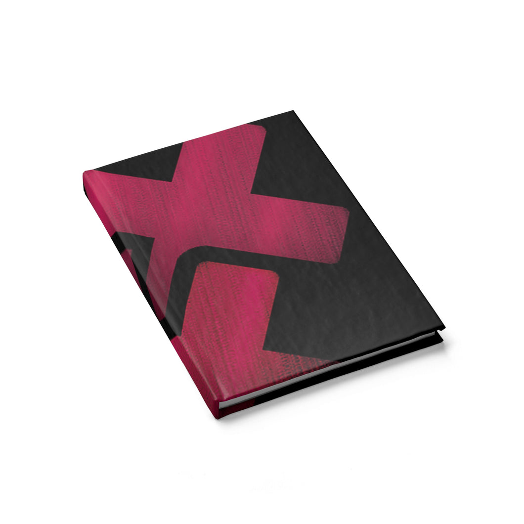 Triple Cross Hardcover Journal (blank paper)