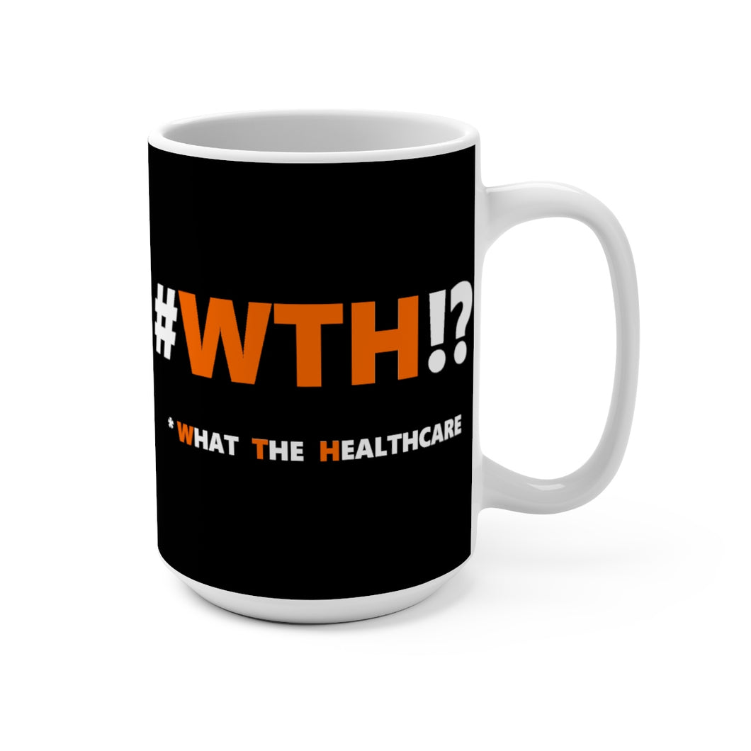WTH!? Orange on Black mug