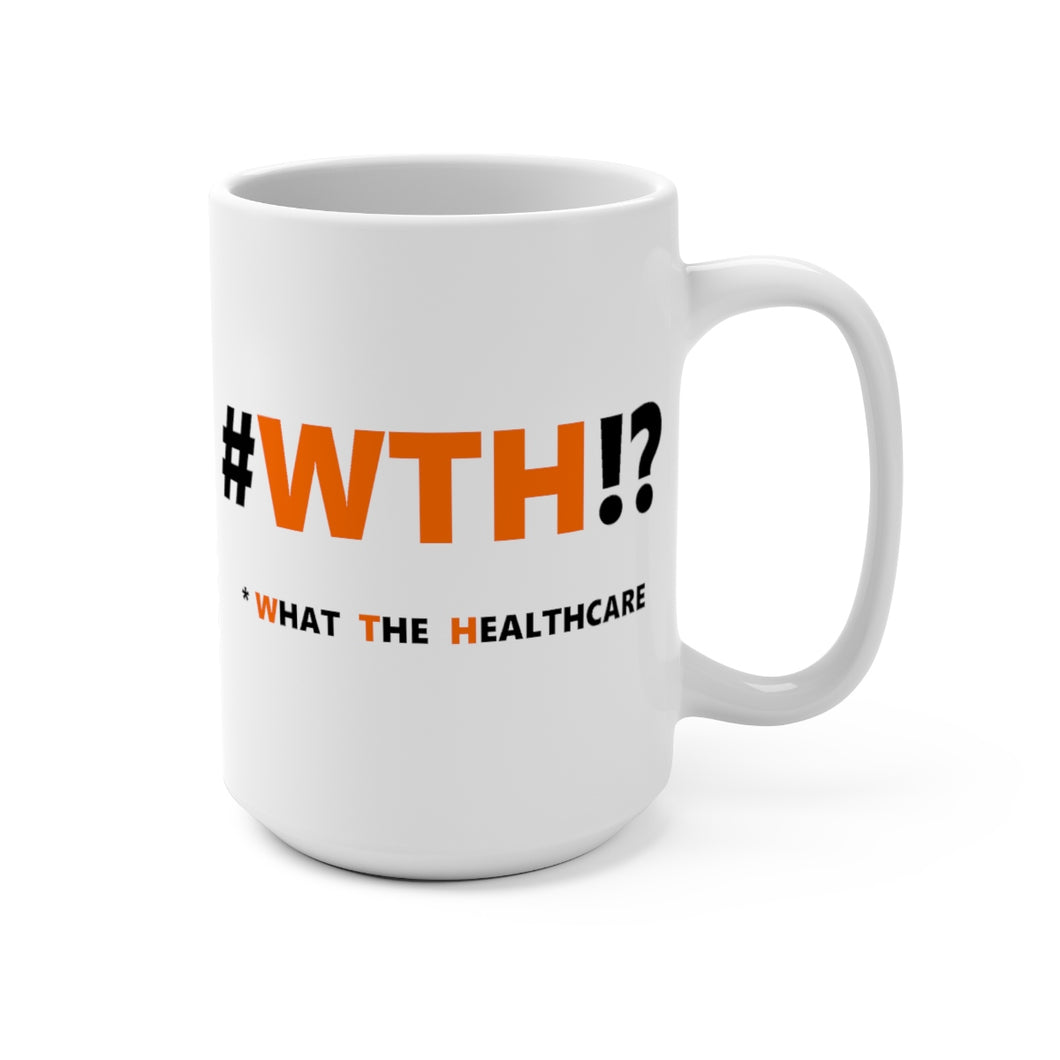 WTH!? Orange on White mug