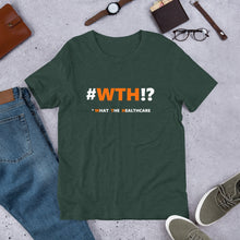 #WTH!? Unisex T-Shirt - Orange on Dark