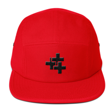 Black Triple Cross Camper Cap