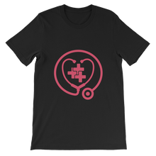 <3 healthcare t-shirt (pink print)