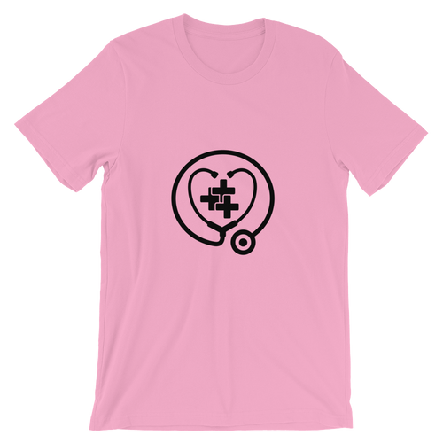 <3 health t-shirt (light colours with black print)