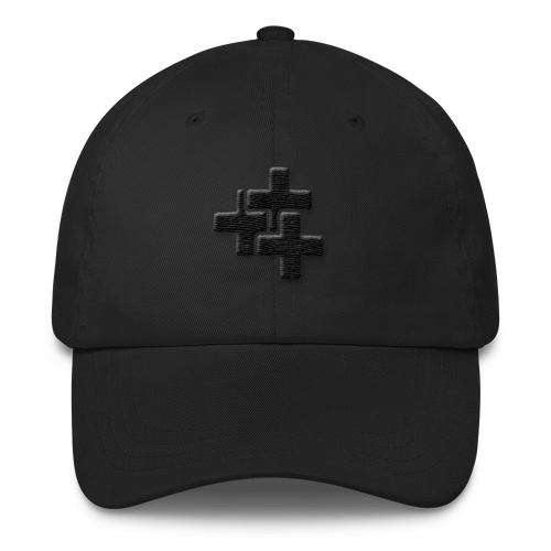 Black Triple Cross Hat