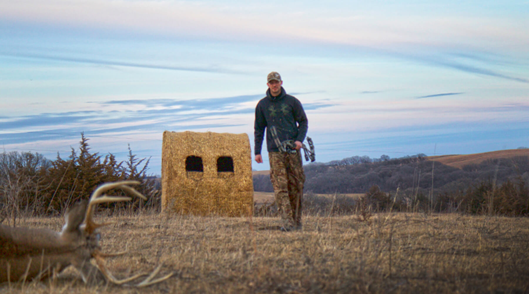 Setting-Up The Perfect Late Season Ground Blind
