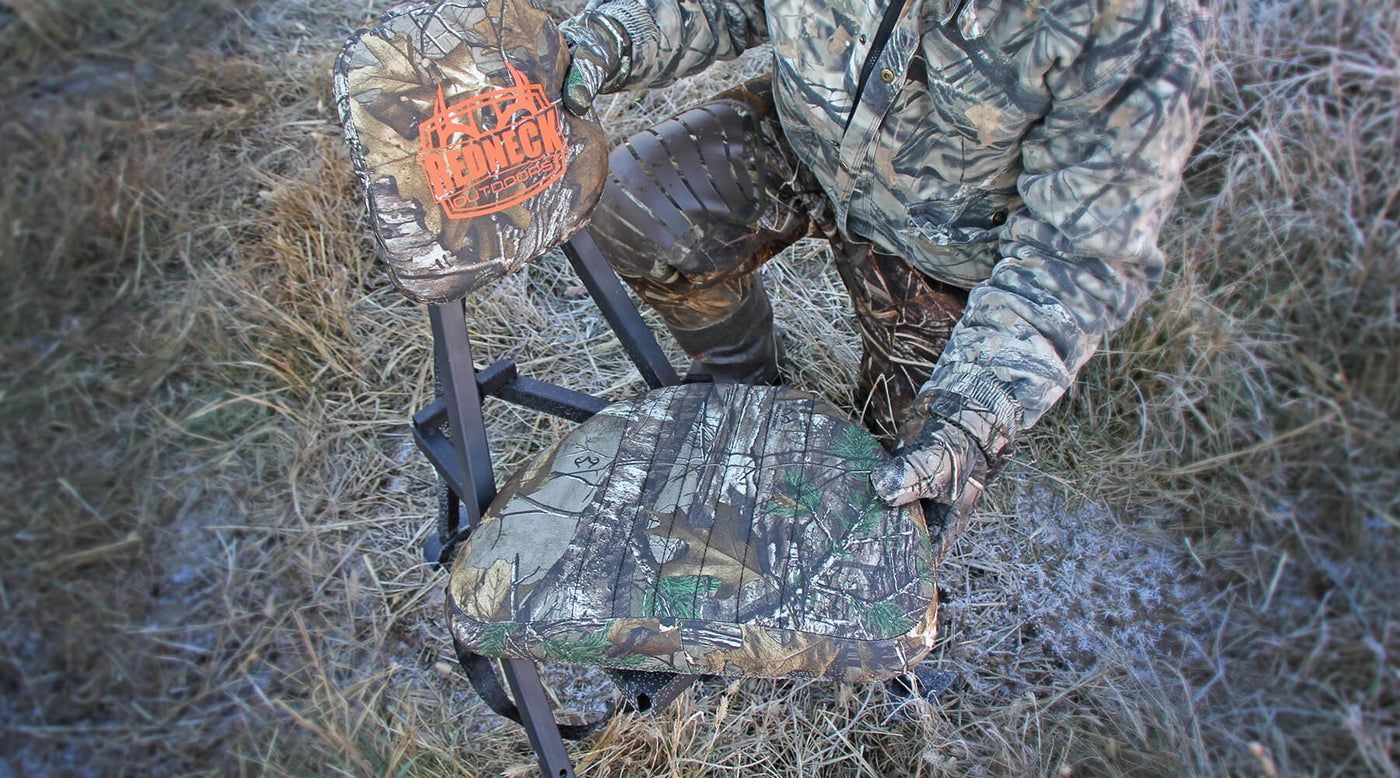 The Redneck Portable Hunting Chair & The Redneck Portable Hunting Chair - Redneck Blinds