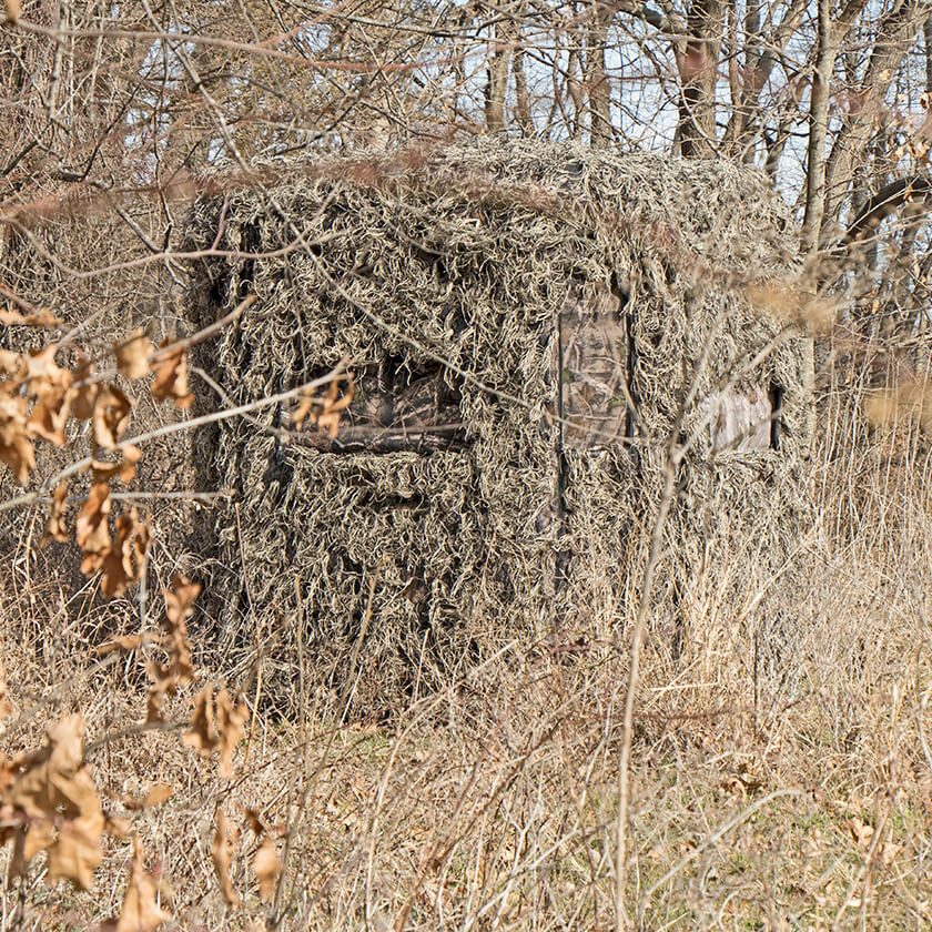 how to build box blinds for deer hunting