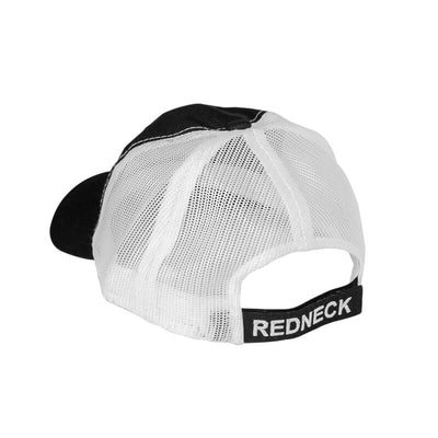 Redneck Blind's Black with White Mesh Hat - Back