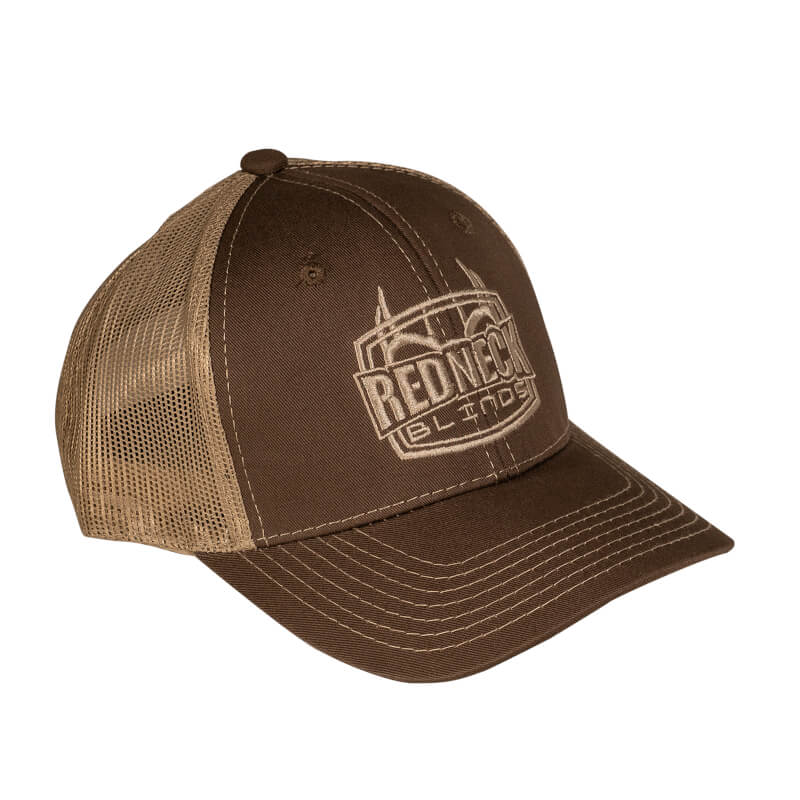 Redneck Blinds Brown with Tan Mesh Hat