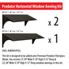 Horizontal window awning dimensions for Predator