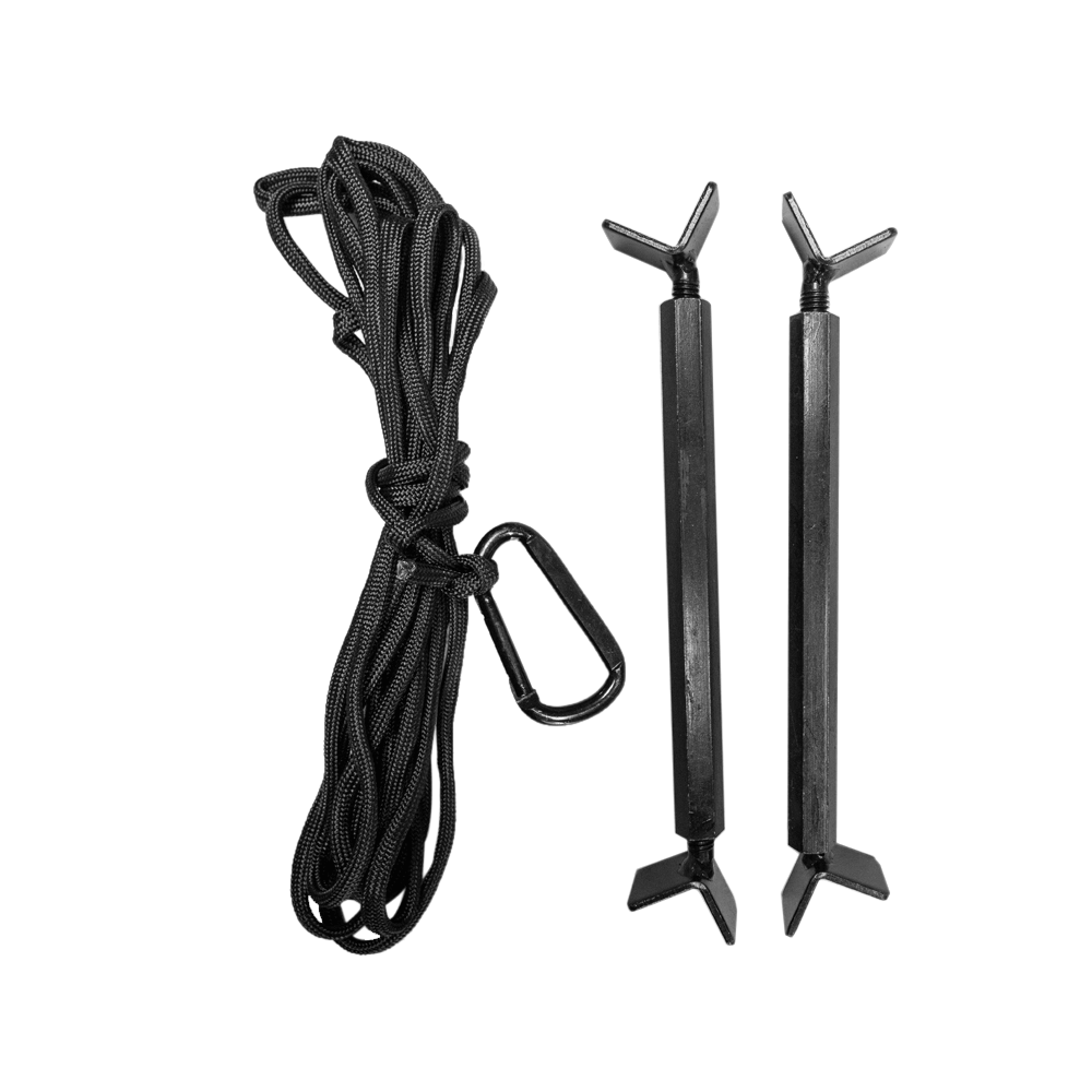 Deluxe Tower Stand Carabiner Rope & Stabilizer Kit