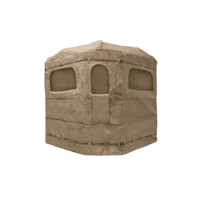 Soft Side 360° Burlap Deluxe Low Profile 6x6 Blind