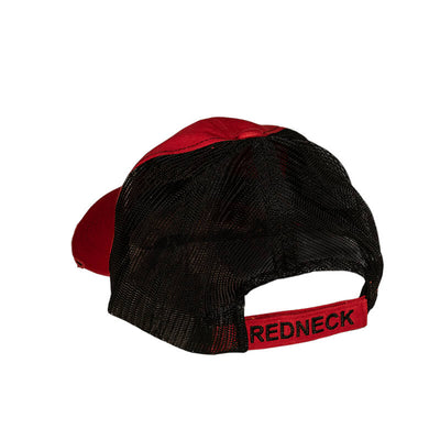 Redneck Blinds Distressed Red with Black Mesh Hat - Back