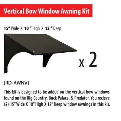 Vertical window awning dimensions