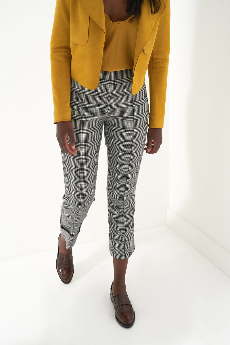 GREG - PLAID CROPPED PANT