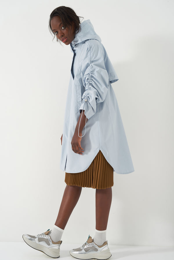 HARA POWDER BLUE - Oversized Raincoat