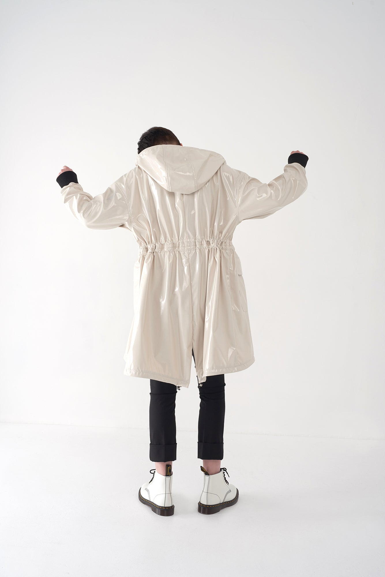 FAWN CEMENT - Oversized Raincoat