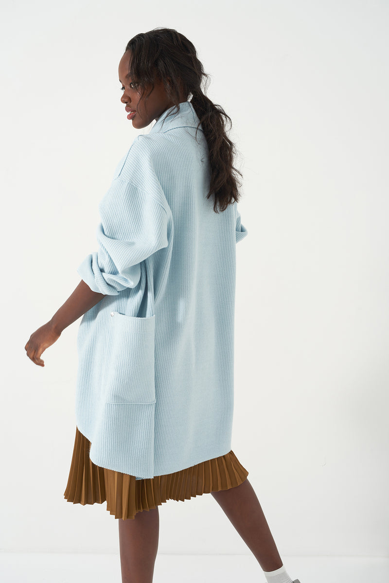 GIOVA BLUE - Oversized Knit Duster