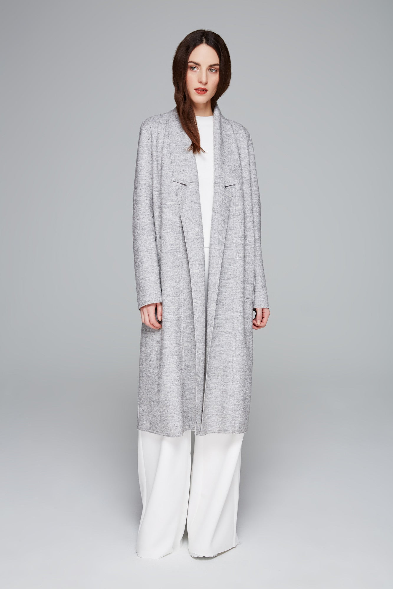 Bella Heather Double Knit Coat