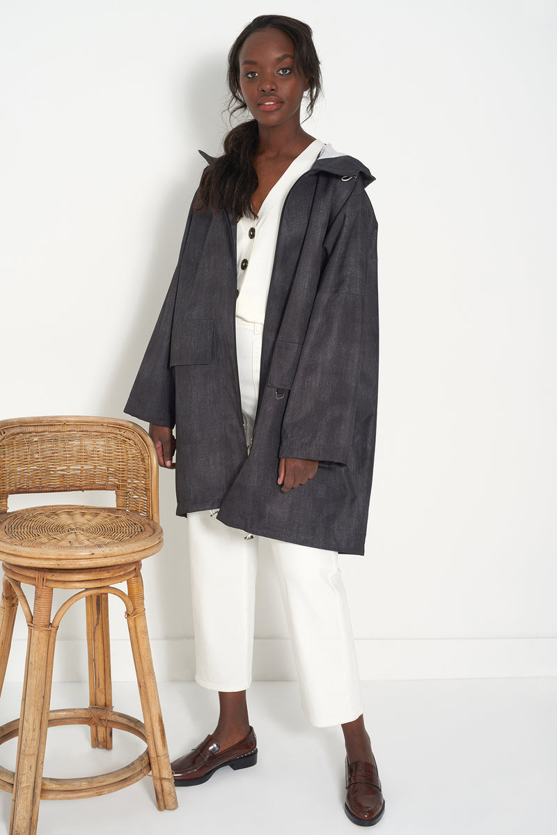 HONOR DENIM - Oversized Raincoat