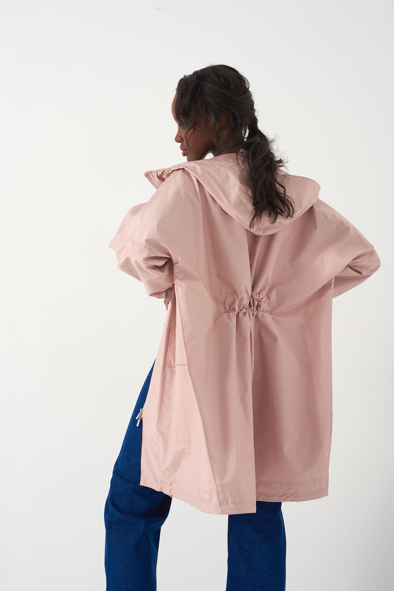 HONOR PINK - Oversized Packable Raincoat