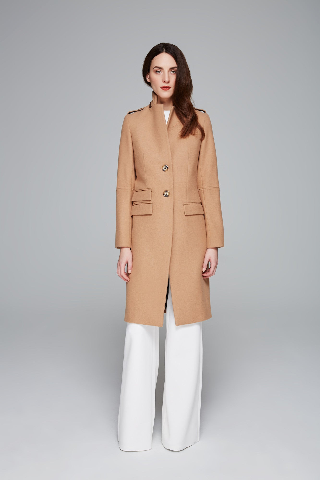 Brisa Felted Wool Coat