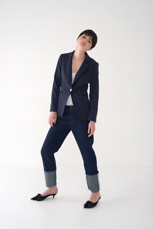 FRANKIE - Tailored Knit Blazer - Søsken Studios