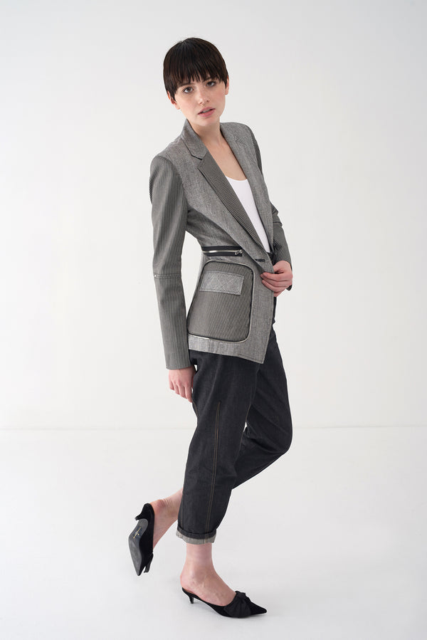 FRANCESCA - Multi Fabric Tailored Blazer - Søsken Studios