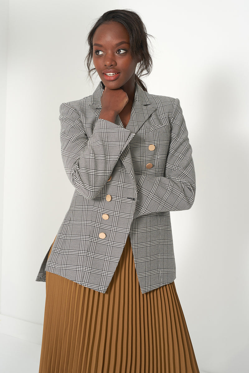 HERO - Plaid Fitted Blazer