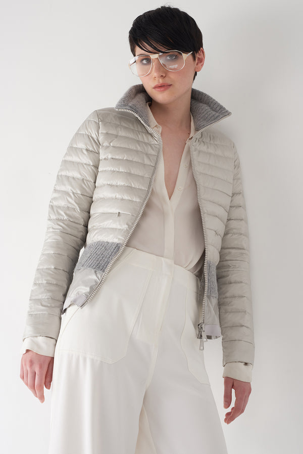 BEV GREY - Lightweight Puffer Jacket