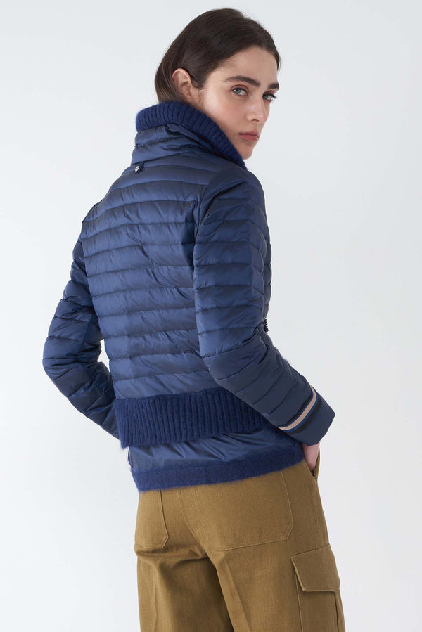 BEV NAVY - LIGHTWEIGHT PUFFER JACKET