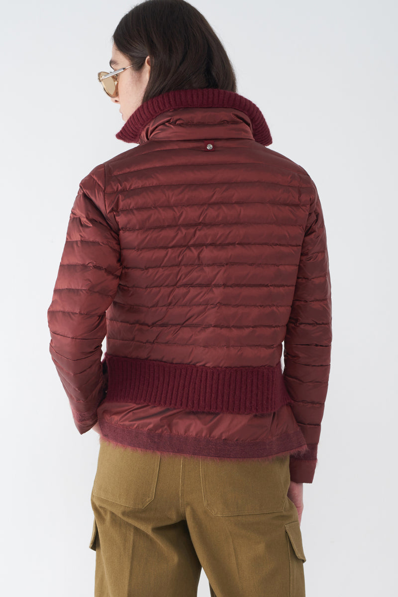 BEV AUTUMN RED - LIGHTWEIGHT PUFFER JACKET