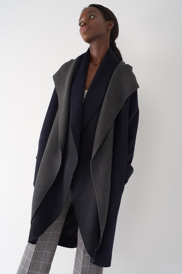 BRANDY NAVY - Brushed Knit Jacket