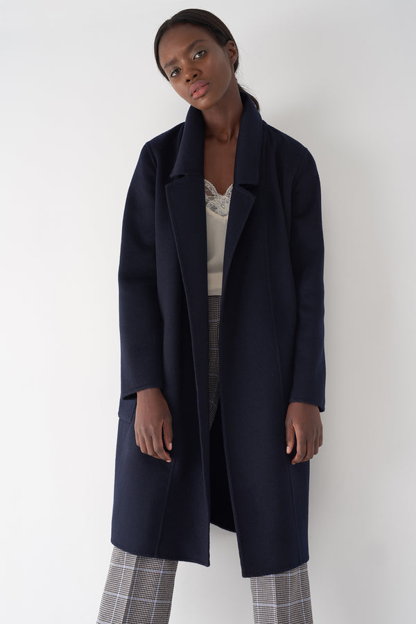 ELLIE NAVY - Cashmere Blend Coat