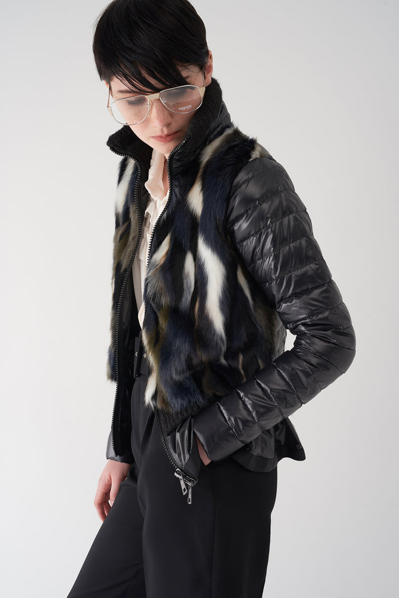 GEELA - Lightweight Fur Body Puffer Jacket